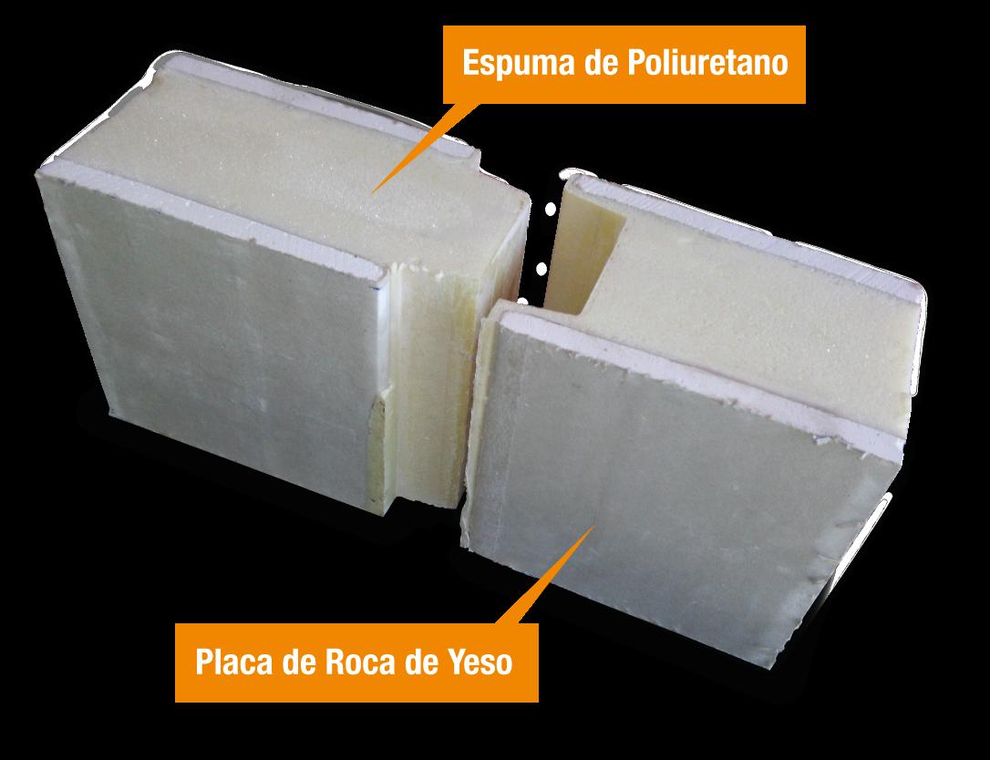 Panel s ndwich de poliuretano con placa de roca de yeso - Como hacer placas de yeso ...